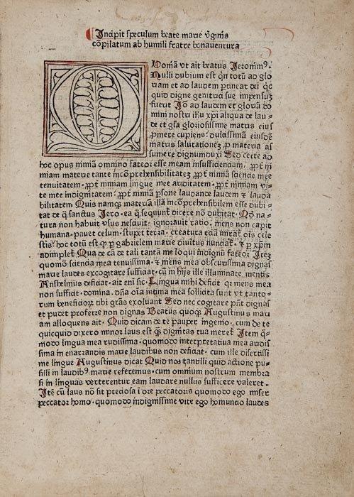 5: Pseudo- Bonaventura, Speculum beatae Mariae virgin