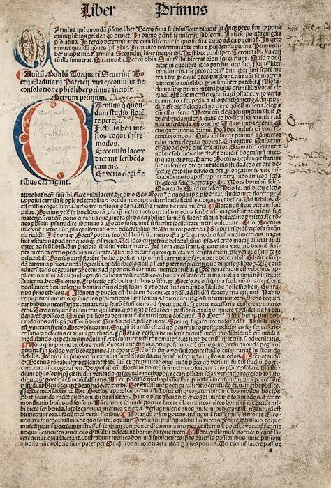 8: Boethius (Anicius Manlius Torquatus Severinus) De
