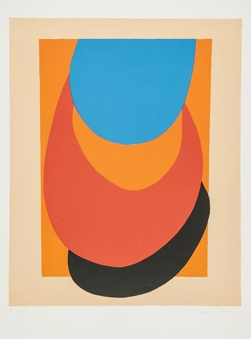6: Sir Terry Frost (1915-2003) Straw, Orange, Blue (K