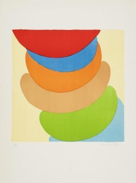 7: Sir Terry Frost (1915-2003) Red, Blue, Orange on Y