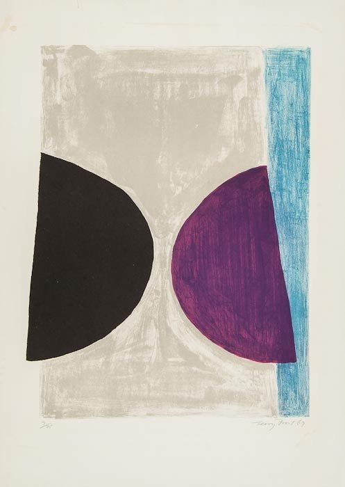8: Sir Terry Frost (1915-2003) Black, Purple and Blue