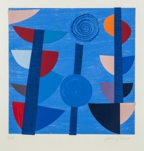 11: Sir Terry Frost (1915-2003) Tolcarne Moon Blue New