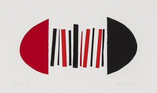 14: Sir Terry Frost (1915-2003) Red and Black Squeeze