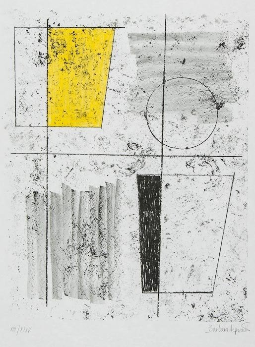16: Barbara Hepworth (1903-1975) Composition pl.7 (fro
