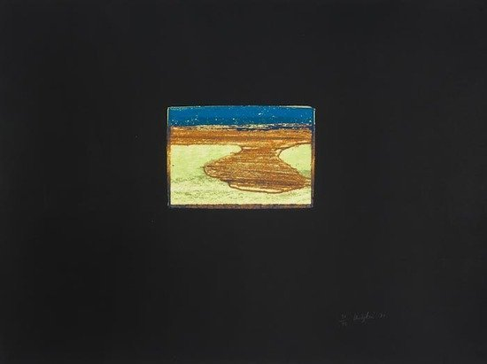 18: Howard Hodgkin (b.1932) Indian View L, from 'India