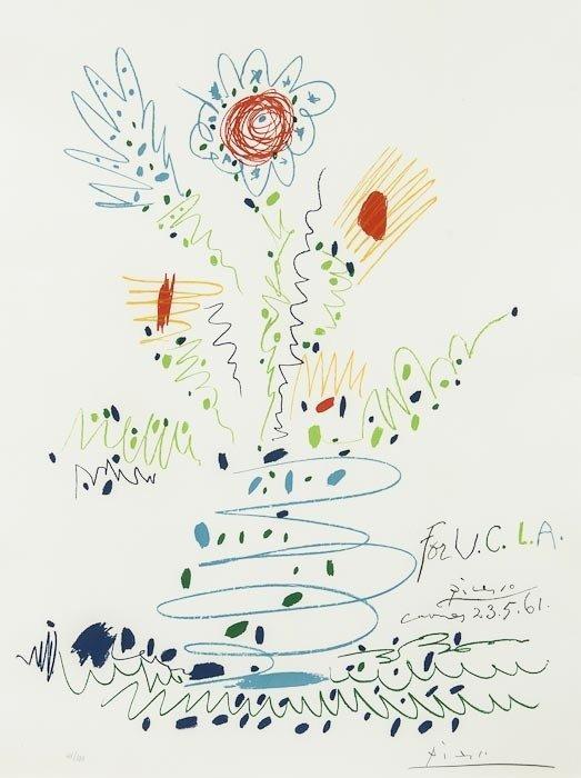 214: Pablo Picasso (1881-1973) Fleurs, for U.C.L.A