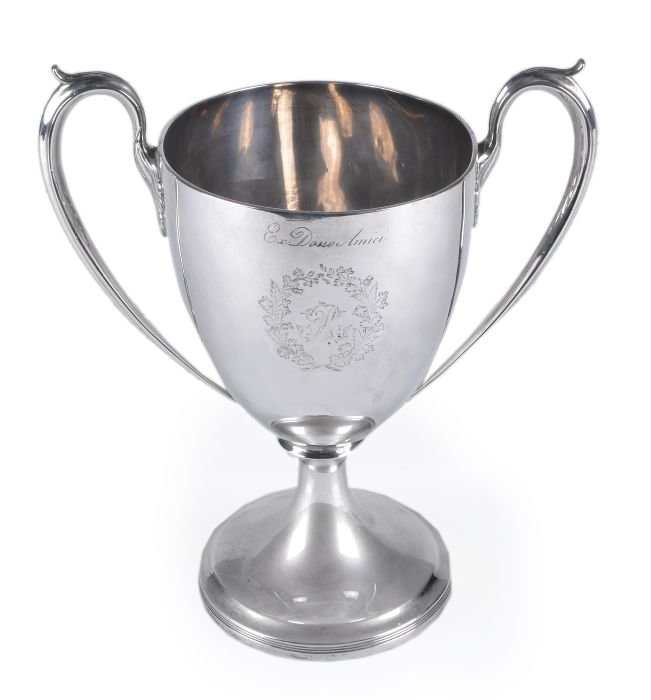 18: A George III Scottish silver twin handled cup by J