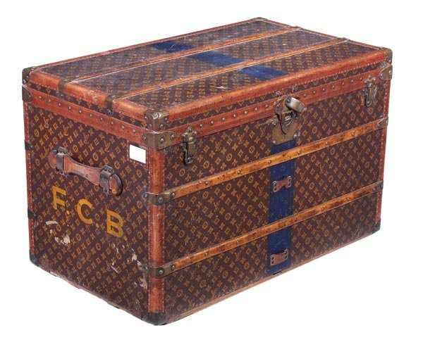50: Louis Vuitton, a monogram canvas and wood lady's h