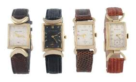 211: Bulova, a gold filled wristwatch, 1944, no. 860619