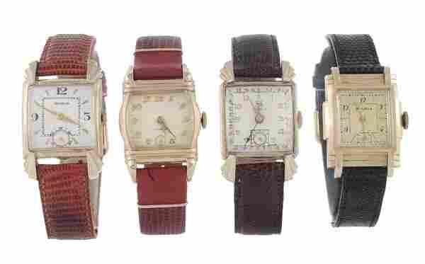 213: Bulova, a gold filled wristwatch, 1946, no. 982591