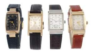 219: Bulova, a gold filled wristwatch, 1950, no. 194511