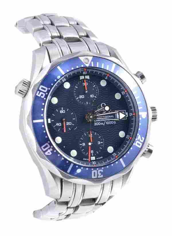 Omega, Seamaster, a gentleman's stainless steel ch