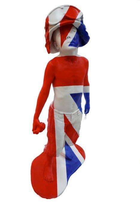 3: Schoony (British, b.1974)  Boy Soldier - Union Jac
