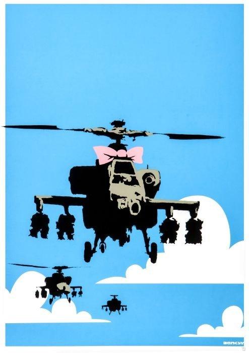 4: Banksy (British, b.1975)  Happy Choppers,  silkscr