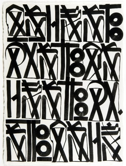 9: Retna (American, b. 1979)  Ashes To Dust, 2010  In
