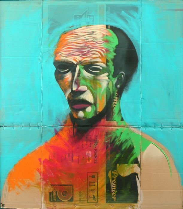 19: Adam Neate (British, b. 1978)  Turquoise Portrait