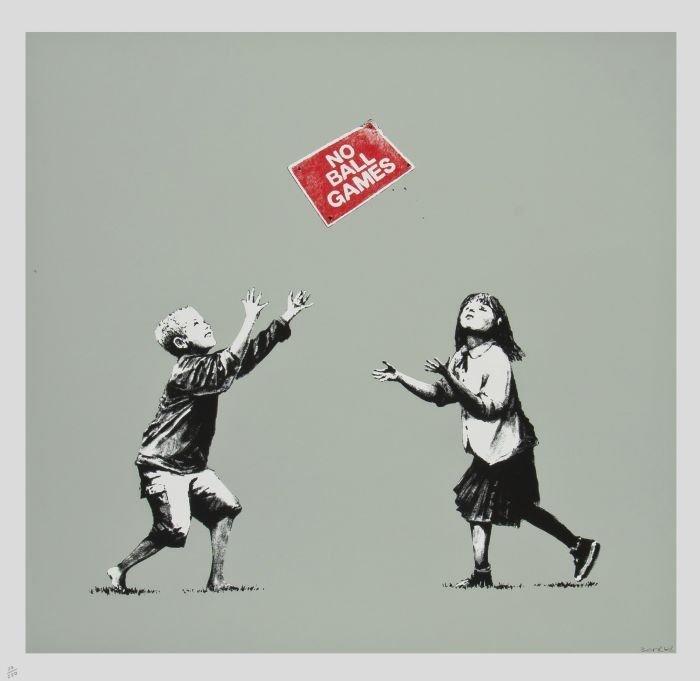 20: Banksy (British, b.1975)  No Ball Games,  silkscre