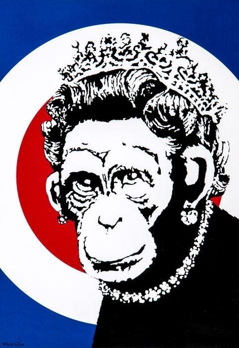 21: Banksy (British, b.1975)  Monkey Queen,  silkscree