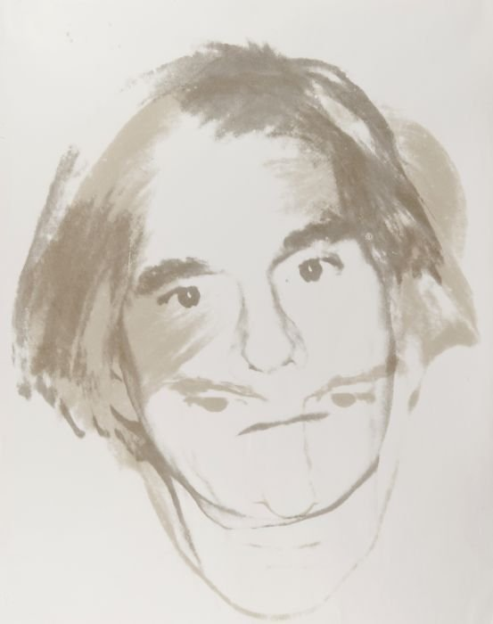86: unique silkscreen, ca.1977, with the Andy Warhol A