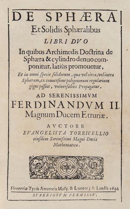 12: Torricelli (Evangelista) Opera Geometrica