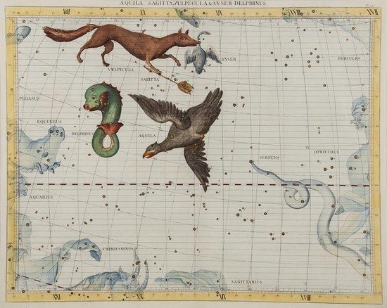 25: Flamsteed (John) 3 celestial charts from Atlas Coe