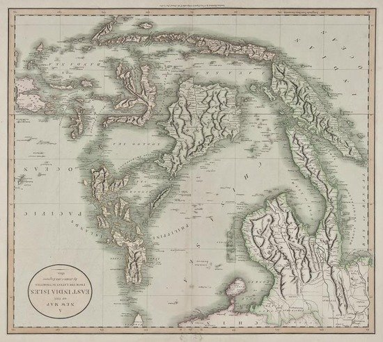 13: Cary (John) A New Map of the East India Isles