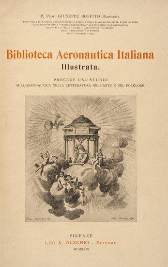 1: Aeronautics.- Boffito (Giuseppe) Biblioteca Aerona
