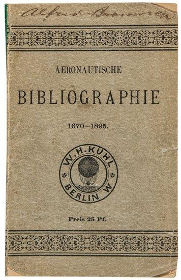 5: (W.H., bookseller) Aeronautische Bibliographishe: