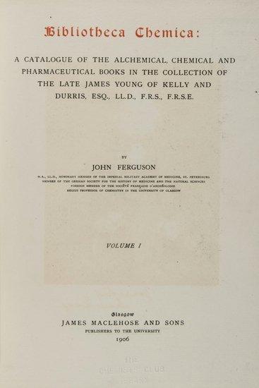 13: -. Ferguson (John) Bibliotheca Chemica:
