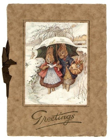 [Potter (Beatrix)] Christmas Greetings Card