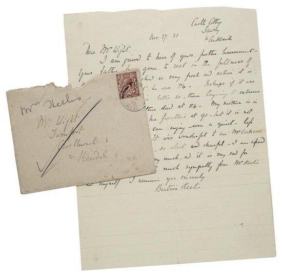 """Potter (Beatrix) Autograph letter signed """"Beatrix"""