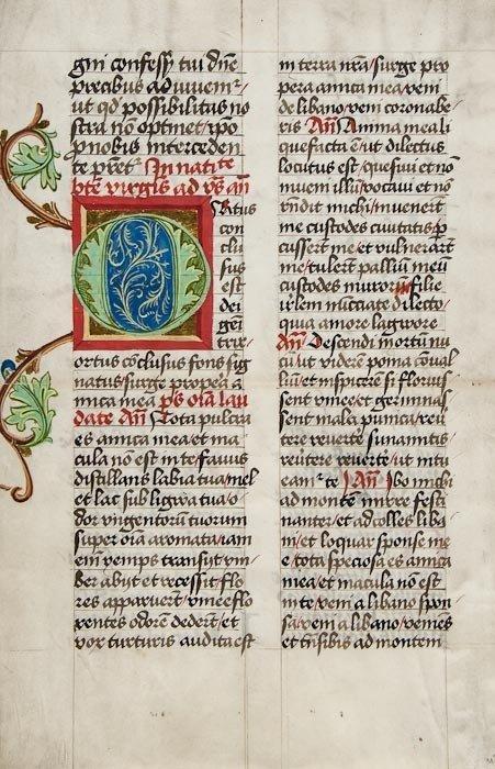 Missals, bifolium