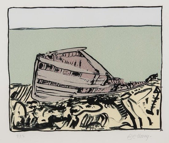 John Bellany (b.1942) Untitled (Boat)