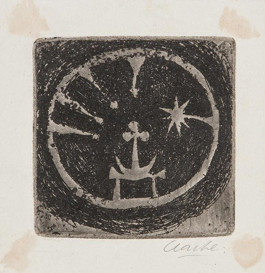 Geoffrey Clarke (b.1924) Christmas Card, Untitled