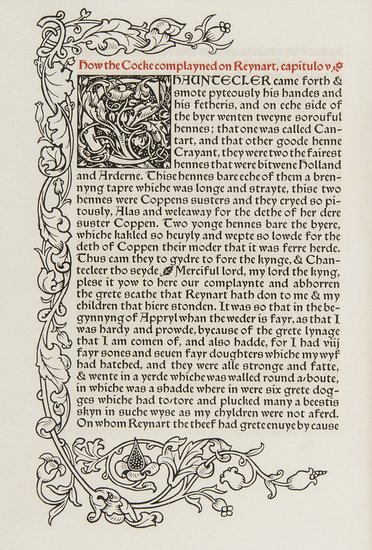 Caxton (William) The History of Reynard the Foxe