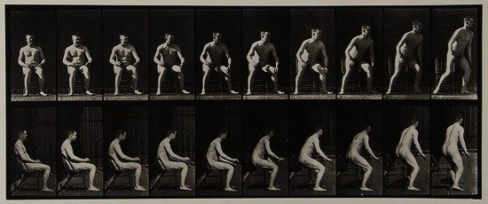 Eadweard Muybridge (1830-1904) Rising from Chair,