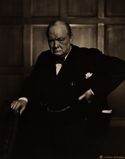 Yousuf Karsh (1908-2002) Winston Churchill, 1941