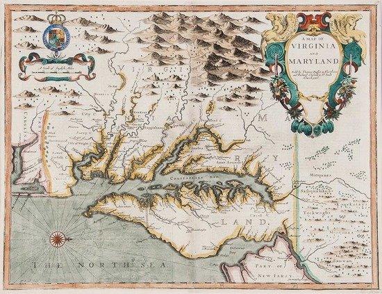 Lamb (Francis) A Map of Virginia and Maryland