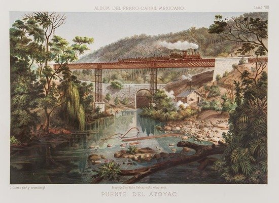 Mexico.- Castro (Casimir) Album del Ferrocarril Me