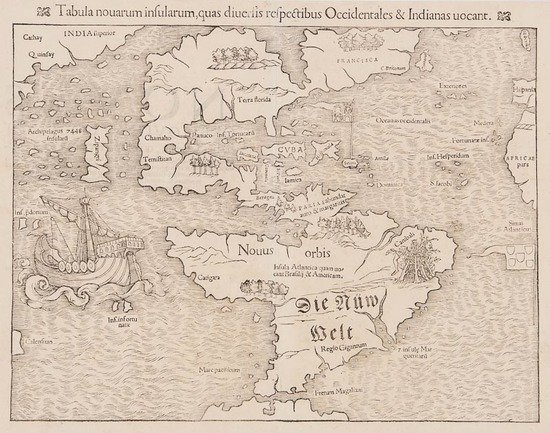 Munster (Sebastian) Tabula novarum insularum, quas
