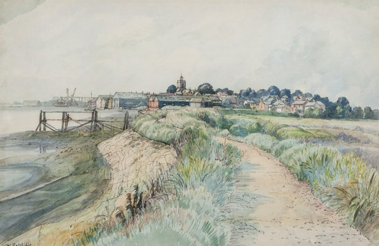 William Ratcliffe (1870-1955) View of Pagham, c. 1