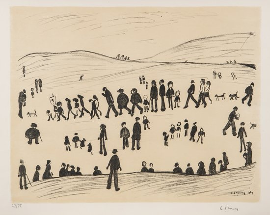 L.S. Lowry (1887-1976) Sunday Afternoon