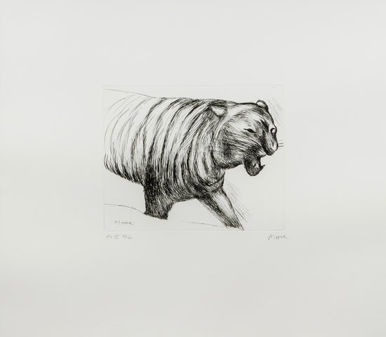 Henry Moore (1898-1986) Tiger (c.643)