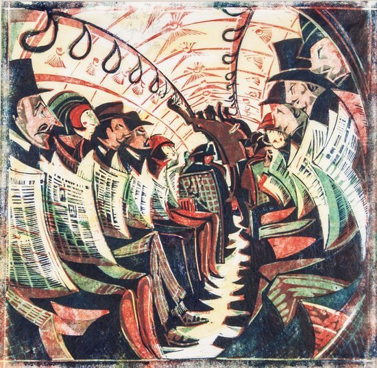 Cyril Edward Power (1874-1951) The Tube Train (C.C