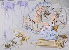 Salvador Dalí (1904-1989) after, Le Char de Bacchu