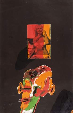 Allen Jones (b.1937) Self Portrait (Ll.20)