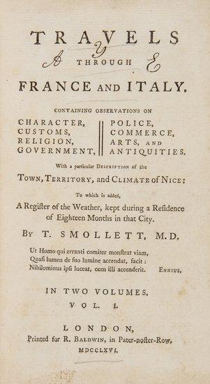 Smollett (Tobias) Travels thorugh France and Italy