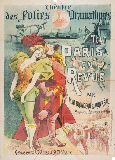 CHOUBRAC, Alfred (1853-1902) PARIS EN REVUE