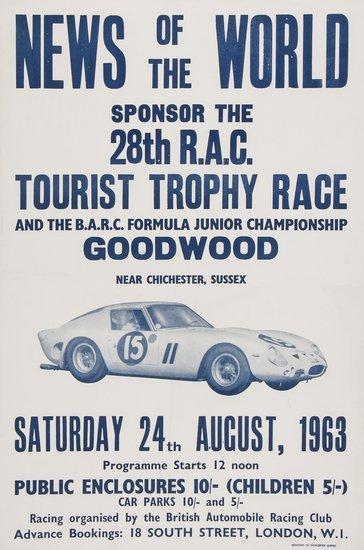 ANONYMOUS 28th R.A.C. TOURIST TROPHY RACE. 1963