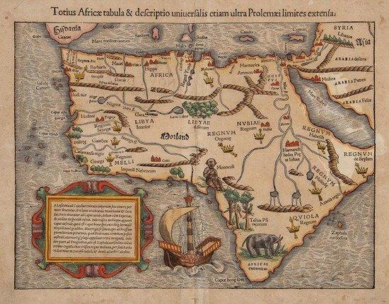 Munster (Sebastian) Totius Africae Tabula & Descri